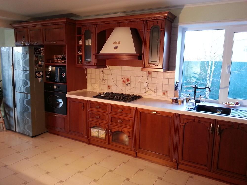 Встроенная кухня-Кухня из массива «Модель 211»-фото3