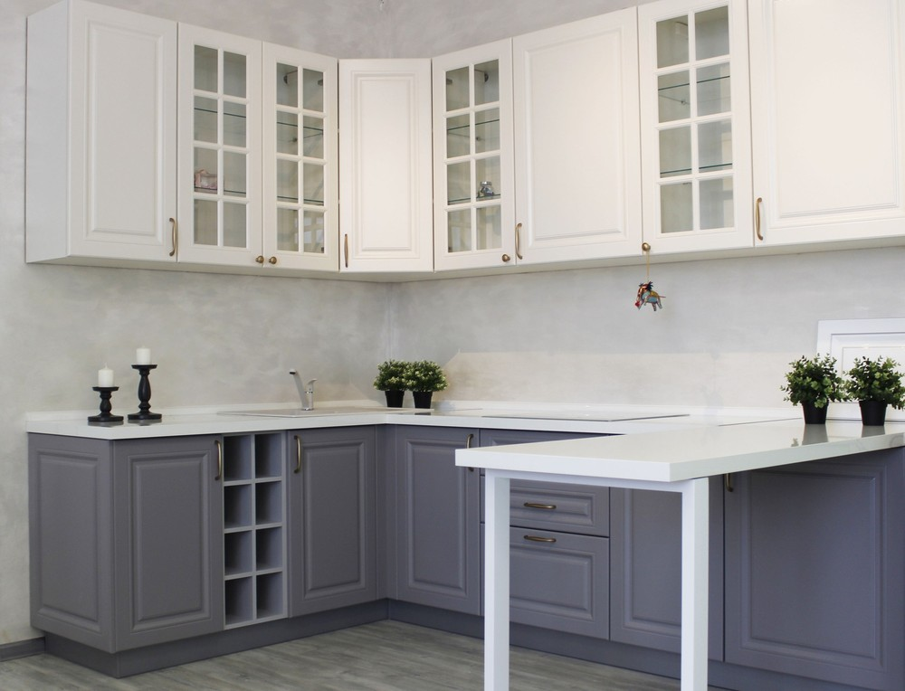 Встроенная кухня-Кухня МДФ в ПВХ «Модель 282»-фото1