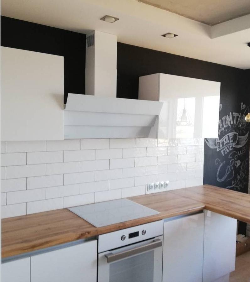Белый кухонный гарнитур-Кухня МДФ в эмали «Модель 380»-фото1