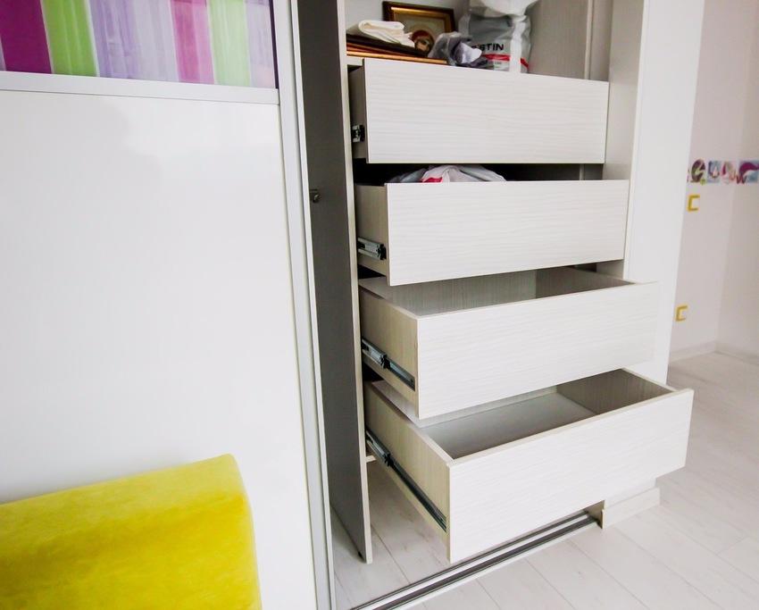 Белые шкафы-купе-Шкаф-купе из ЛДСП «Модель 375»-фото3