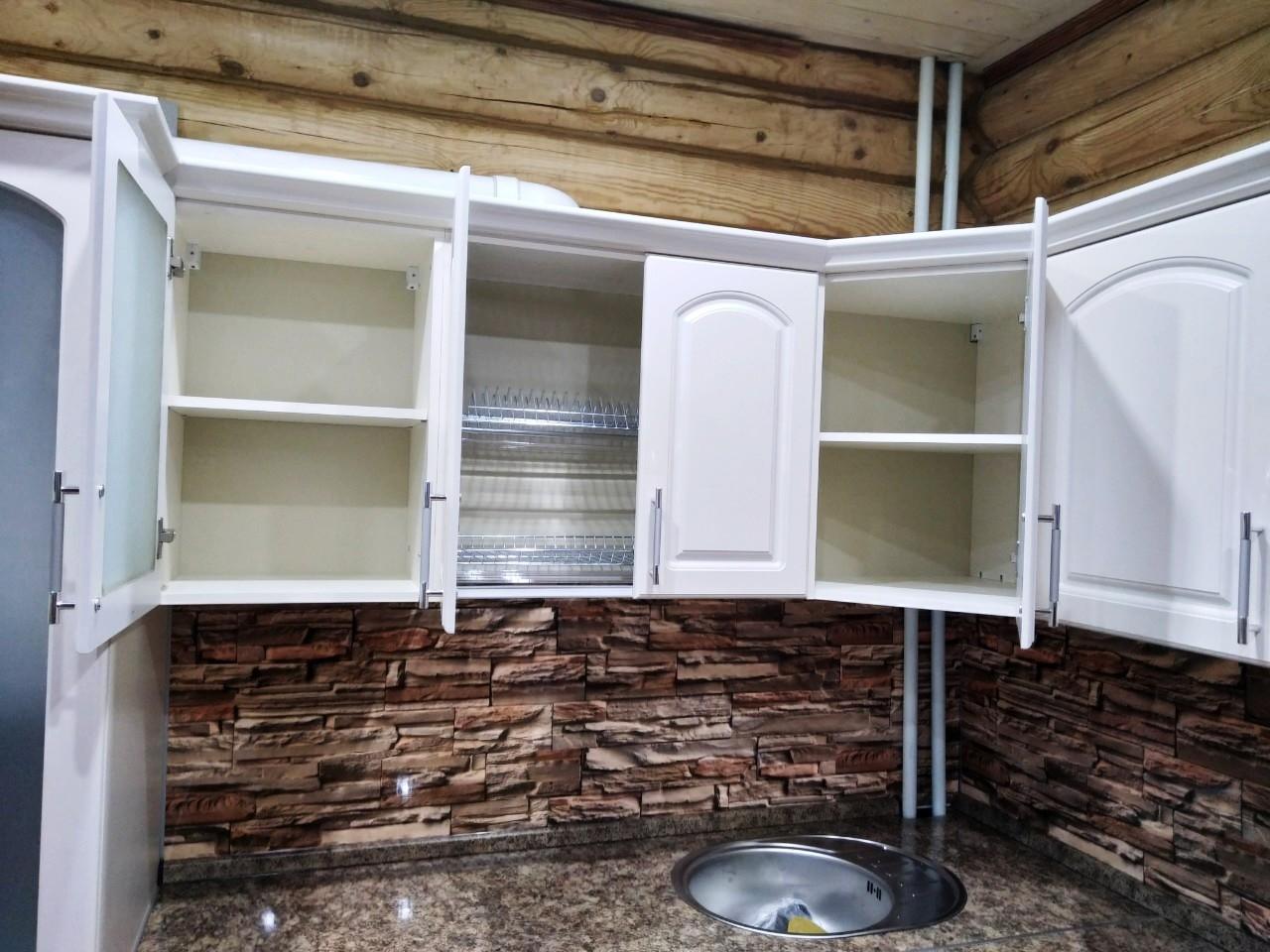 Белый кухонный гарнитур-Кухня МДФ в эмали «Модель 546»-фото7