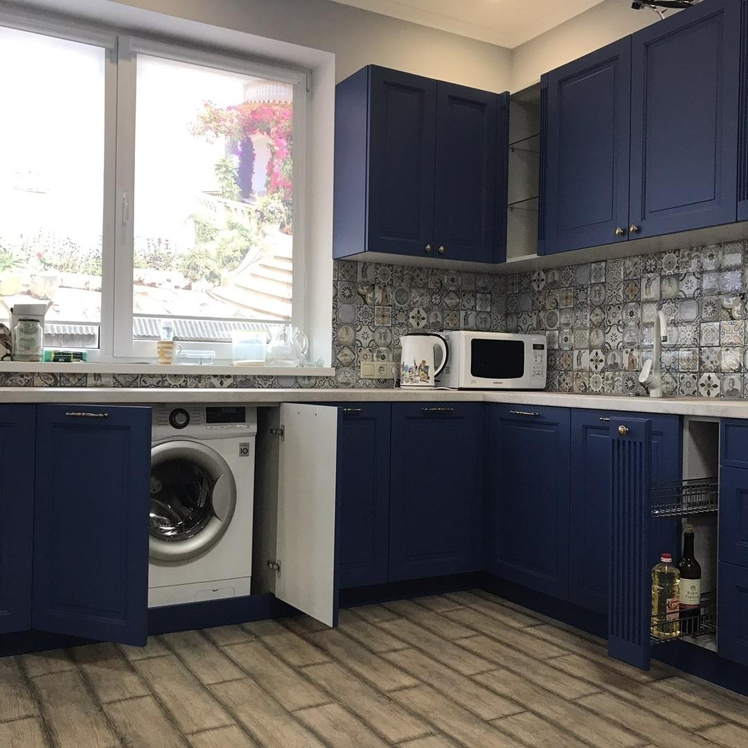 Классические кухни-Кухня МДФ в эмали «Модель 620»-фото3