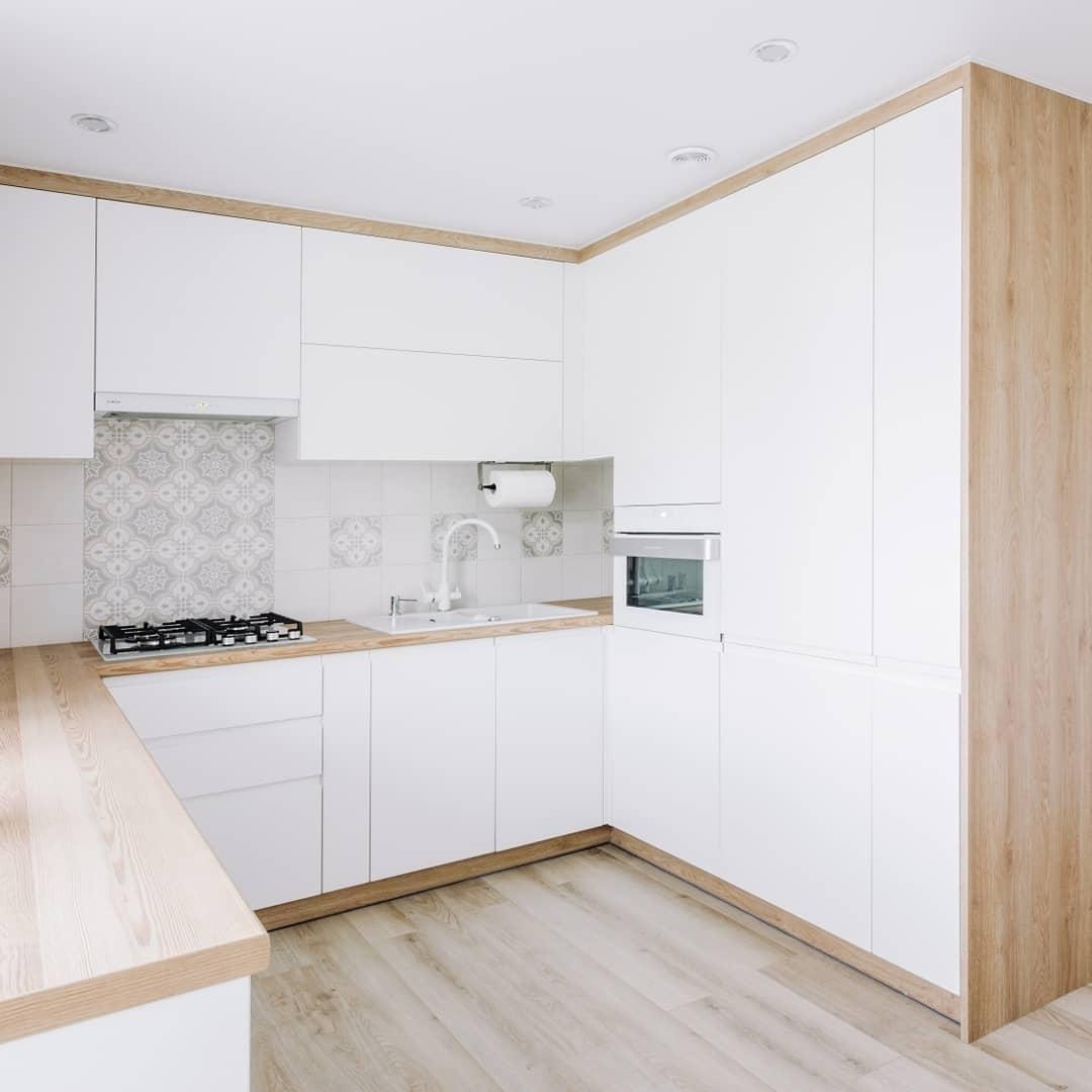 Встроенная кухня-Кухня МДФ в эмали «Модель 614»-фото1