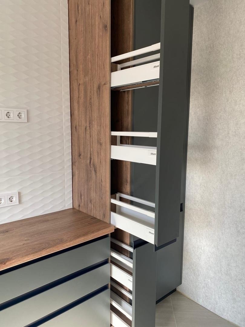 Встроенная кухня-Кухня МДФ в ПВХ «Модель 564»-фото5