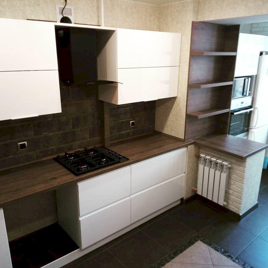 Белый кухонный гарнитур-Кухня МДФ в эмали «Модель 654»-фото3