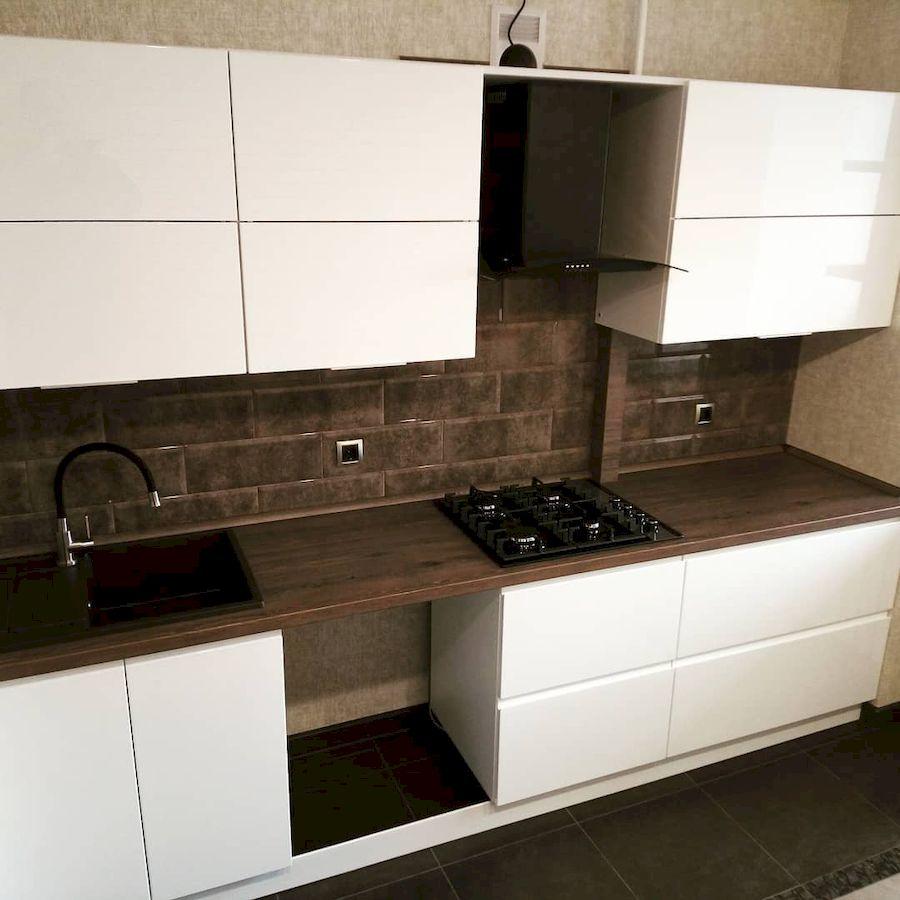 Белый кухонный гарнитур-Кухня МДФ в эмали «Модель 654»-фото2
