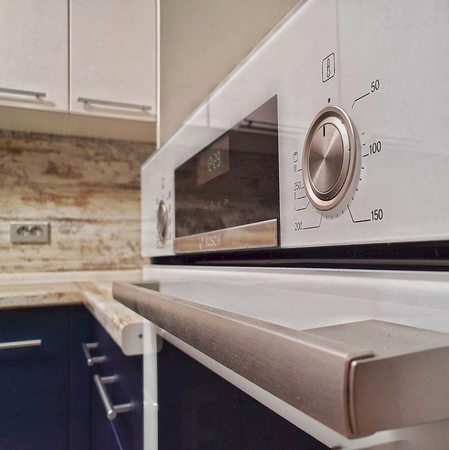 Белый кухонный гарнитур-Кухня МДФ в ПВХ «Модель 555»-фото6