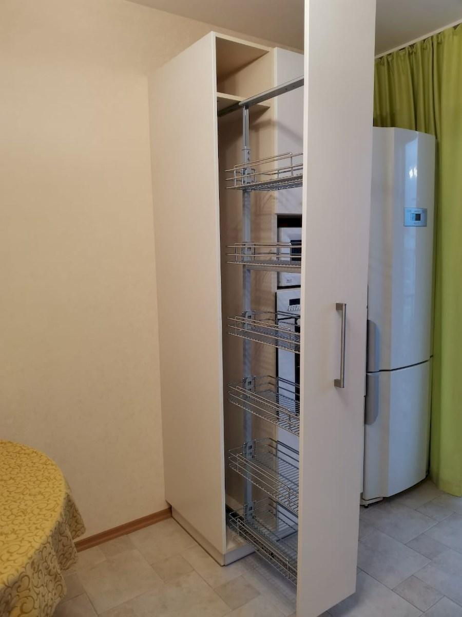 Белый кухонный гарнитур-Кухня МДФ в ПВХ «Модель 579»-фото7