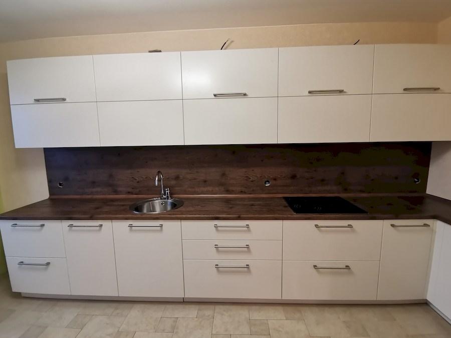 Белый кухонный гарнитур-Кухня МДФ в ПВХ «Модель 579»-фото3