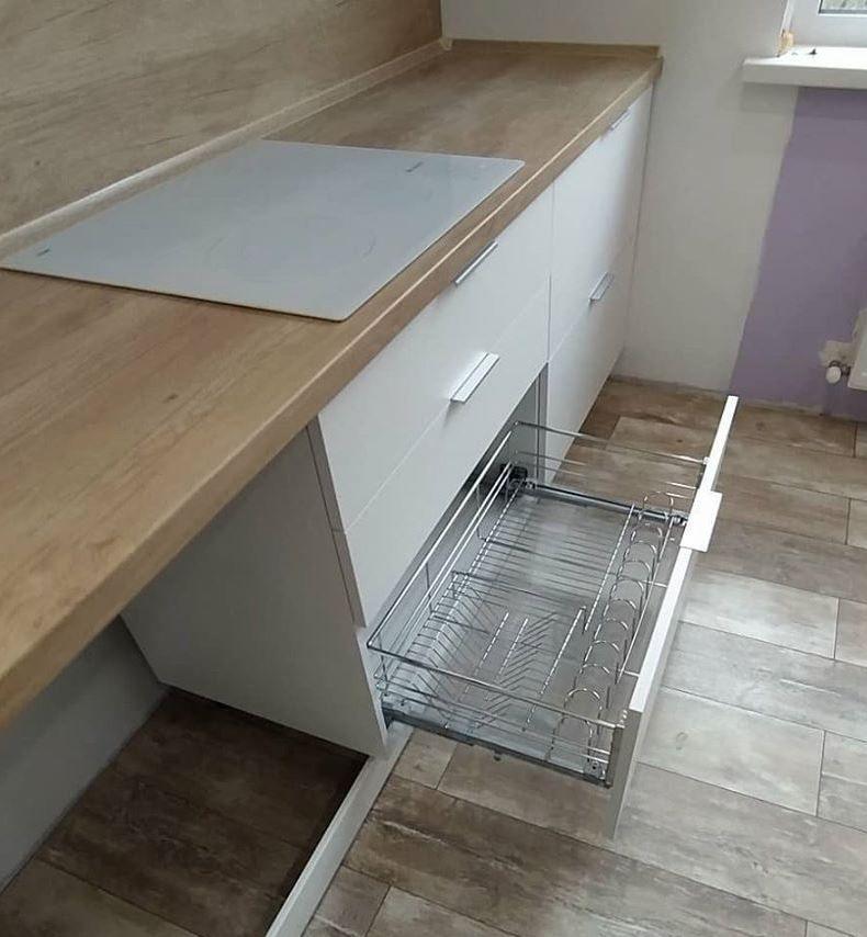 Белый кухонный гарнитур-Кухня МДФ в ПВХ «Модель 672»-фото5