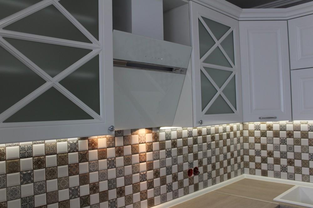 Белый кухонный гарнитур-Кухня МДФ в ПВХ «Модель 82»-фото8