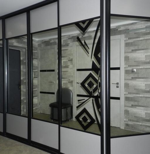Бельевой шкаф-купе-Шкаф-купе с зеркалом «Модель 281»-фото2