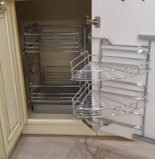 Белый кухонный гарнитур-Кухня МДФ в ПВХ «Модель 69»-фото9