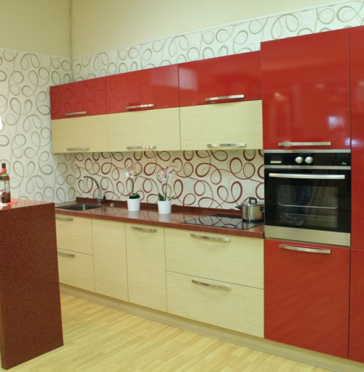 -Кухня из пластика «Модель 129»-фото17