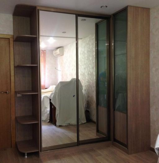 Большой шкаф-купе-Шкаф-купе с зеркалом «Модель 219»-фото2