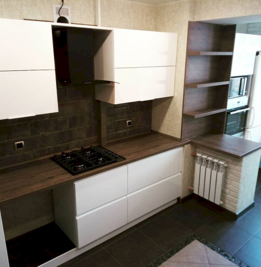 Белый кухонный гарнитур-Кухня МДФ в эмали «Модель 654»-фото6