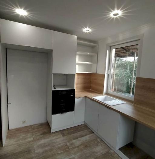 Белый кухонный гарнитур-Кухня МДФ в ПВХ «Модель 672»-фото6