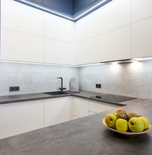 -Кухня МДФ в эмали «Модель 678»-фото26